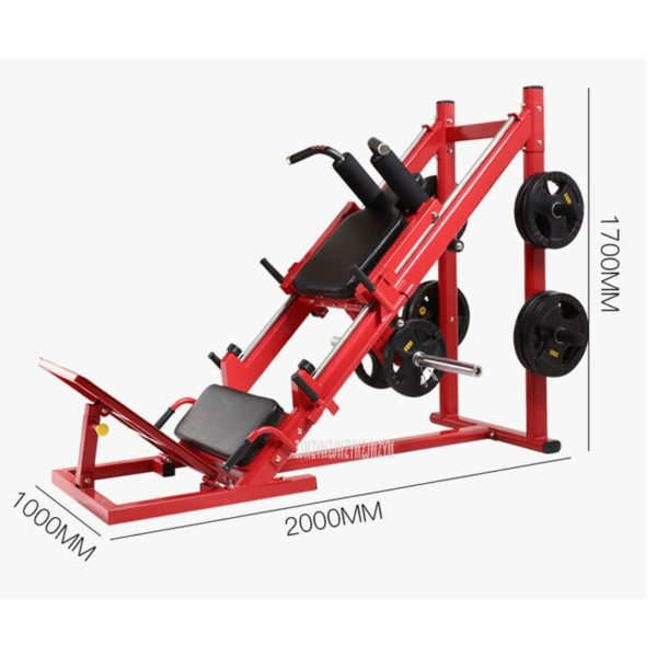Dual Use 45 Degree Reverse Pedal Trainer Deep Squat Machine Fitness Upside-down Pedal Exercise Equipment Gym Workout Sport