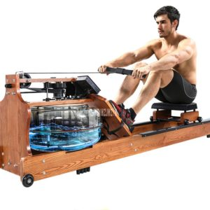 YPHCJ02 4-Gear Water Resistance Solid Wood Two-Way Track Rowing Machine Aerobic Exercise Body Glider Training Fitness Equipment