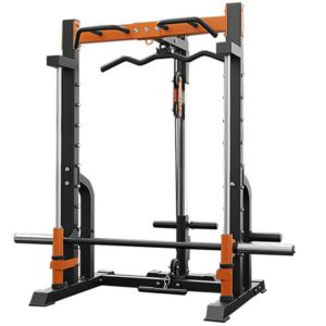 Smith machine squat rack consumer and commercial gym training equipment weightlifting barbell bench press gantry.