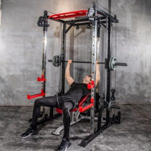 Smith machine steel squat rack gantry push frame fitness equipment comprehensive training device free squat bench press frame