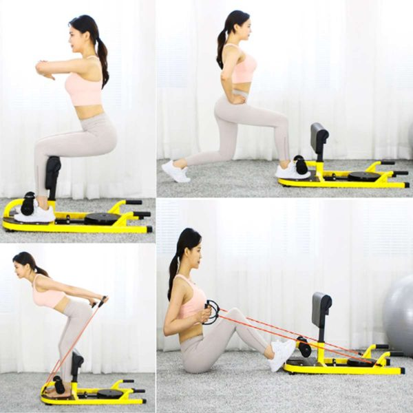Squat Machine Device Multifunctional Squat Rack Frame Indoor Household Abdominal Buttocks Exerciser Integrated Fitness Equipment